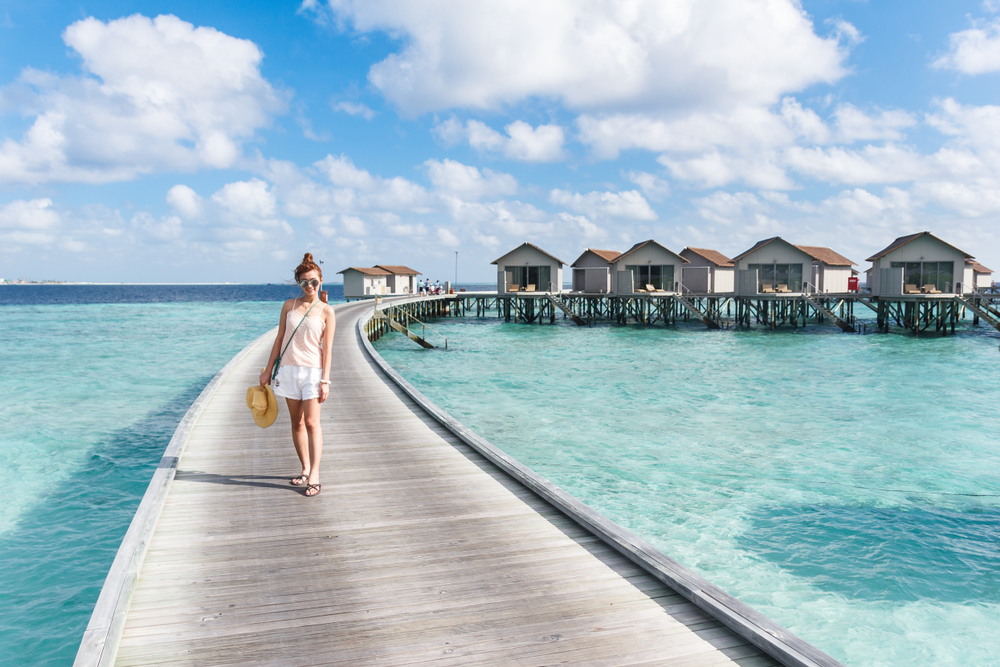 Nach Langstreckenflügen muss man sich entspannen (Malediven)